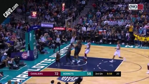LBJ Dimes George Hill for the Dunk