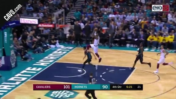 LBJ Steal and Power Slam