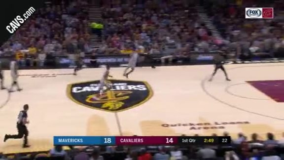 Clarkson Leaps to Steal Ball in Transition
