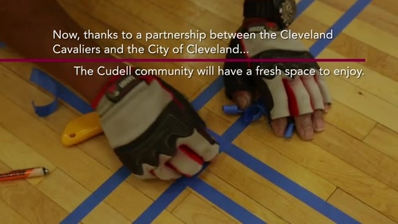 Cavs Unveil First Refurbished Court Cleveland Cavaliers