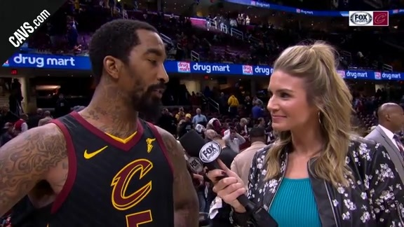 #CavsPacers Game 2 On-Court Postgame: JR Smith - April 18, 2018