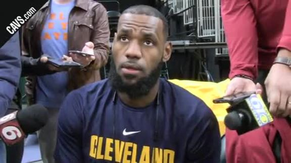 #CavsPacers Game 3 Shootaround: LeBron James - April 20, 2018