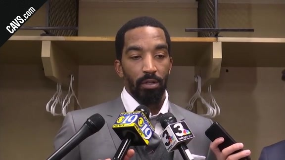 #CavsPacers Game 3 Postgame: J.R. Smith - April 20, 2018
