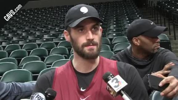 #CavsPacers Game 4 Practice: Kevin Love – April 21, 2018