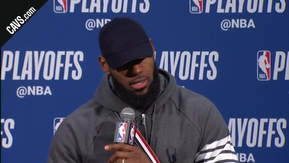 #CavsPacers Game 4 Postgame: LeBron James - April 22, 2018