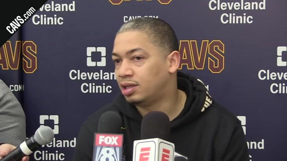 #CavsPacers Game 5 Practice: Coach Lue – April 24, 2018