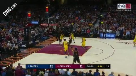 JR Picks Off Inbound Pass, Drops Dime to LBJ
