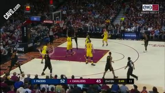 LBJ Soars for Dunk