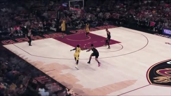Intel True View: Swish Drops Dime to LBJ after Steal