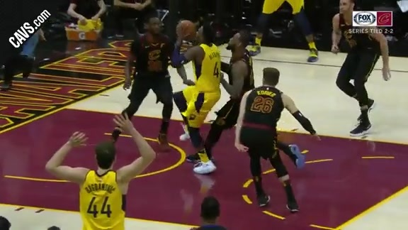 LBJ Keeps the Score at Bay with Monster Block