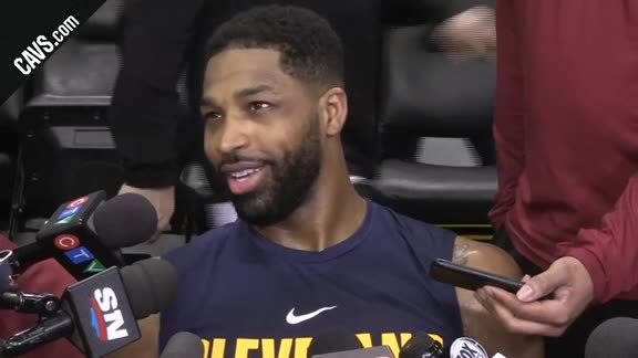 #CavsRaptors Game 2 Shootaround: Tristan Thompson - May 3, 2018