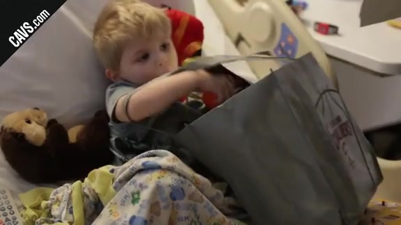 Cavs Help Pediatric Patients Gear Up for Playoffs