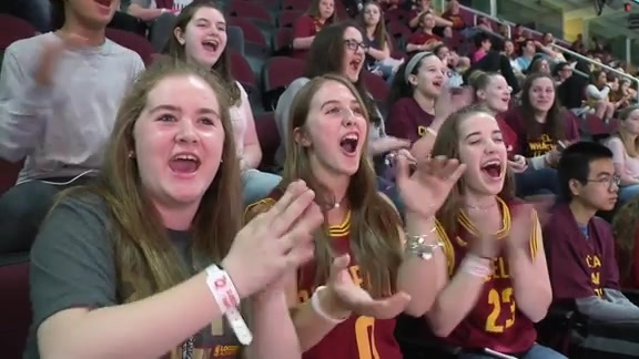 Cavs Host Mentor Students for Game 2 Watch Party