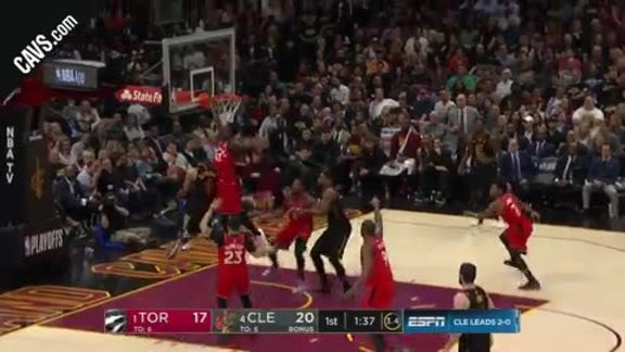 Clarkson Goes Up and Under with Slick Layup