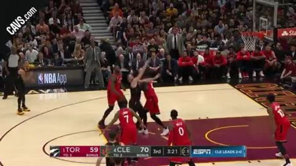 KLove Grabs the Foul and the Bucket
