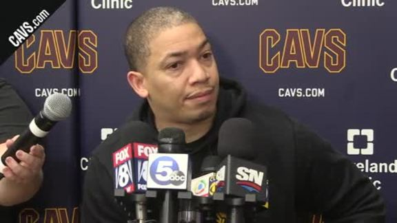#CavsRaptors Game 4 Practice: Coach Lue - May 6, 2018