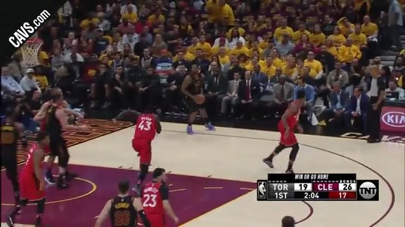 LBJ Threads the Needle, Finds Swish for Three