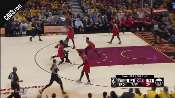 LBJ Makes Slick Move to Earn Two Points