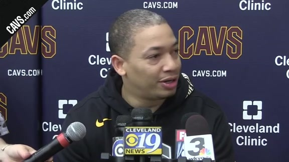 #CavsCeltics Game 1 Practice: Coach Lue – May 11, 2018
