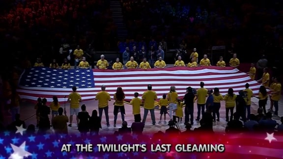 Welshly Arms Performs National Anthem Ahead of Game 3