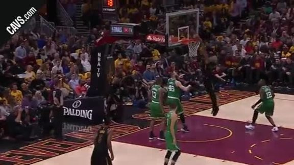 LBJ Tosses Slick Dime to TT