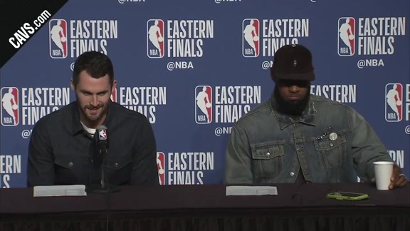 #CavsCeltics Game 3 Postgame: Kevin Love, LeBron James - May 19, 2018