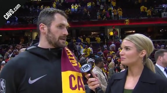 #CavsCeltics Game 3 On-Court Postgame: Kevin Love - May 19, 2018