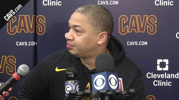 #CavsCeltics Game 4 Practice: Coach Lue – May 20, 2018