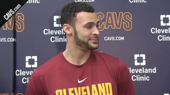Larry Nance Jr. Checks in from Practice