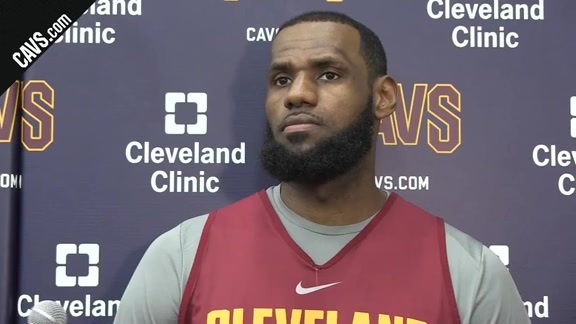 #CavsCeltics Game 4 Shootaround: LeBron James - May 21, 2018