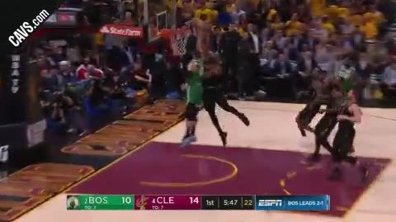 TT's Block Leads to LBJ And-One