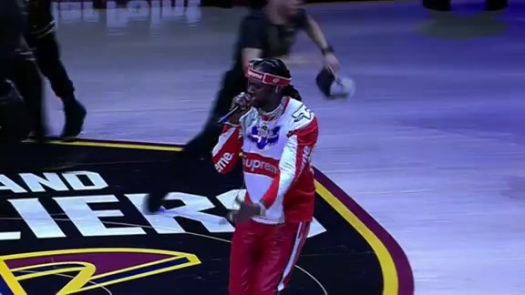 2 Chainz Performs for Cavs Fans During the First Quarter