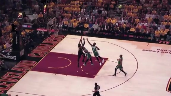 Intel True View: LeBron Buries the Tough Bucket