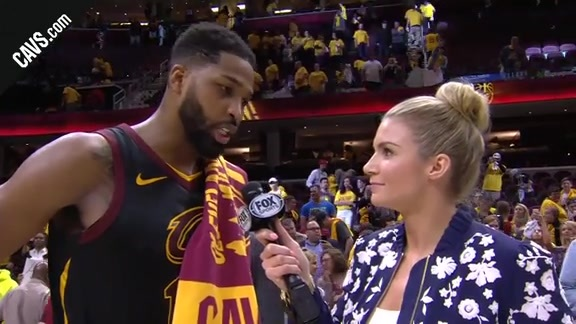 #CavsCeltics Game 4 On-Court Postgame: Tristan Thompson - May 21, 2018