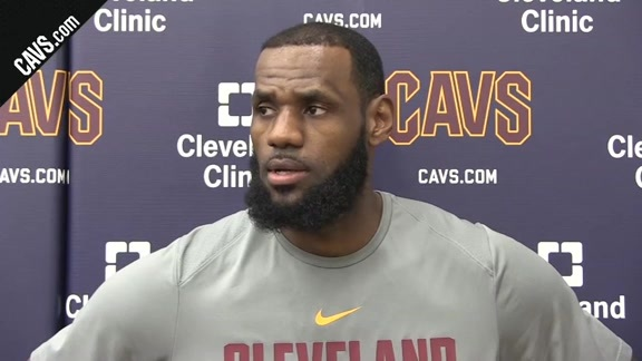 #CavsCeltics Game 6 Shootaround: LeBron James - May 25, 2018