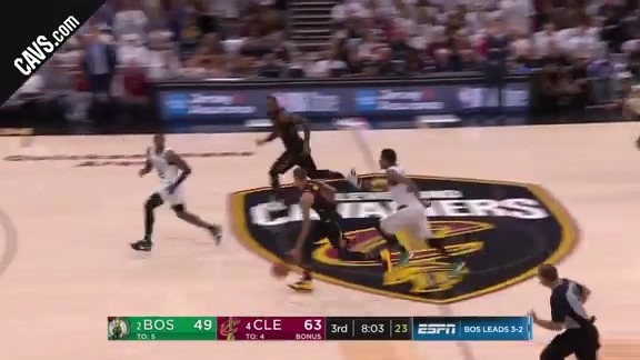 Hill's Steal Leads to Cavs Fast Break