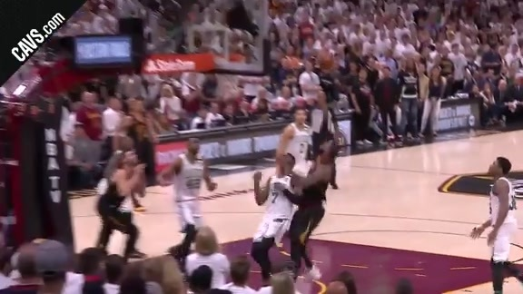 LBJ All but Seals the Win for the Cavs with Pretty Layup