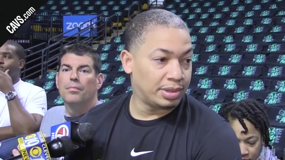 #CavsCeltics Game 7 Shootaround: Coach Lue - May 27, 2018