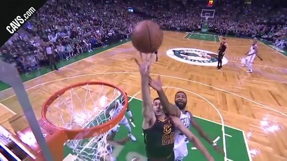 Nance Jr. Finishes the Play with a Tough Tip-In
