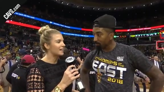#CavsCeltics Game 7 On-Court Postgame: JR Smith - May 27, 2018