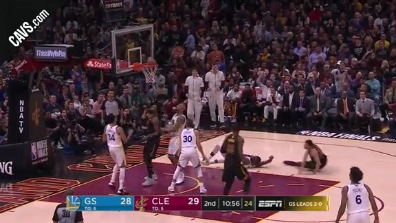 James Picks Off GS Pass, Scores at Other End