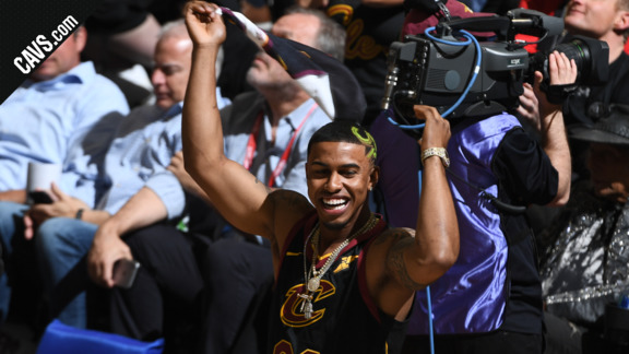 Cleveland Indians Support the Cavs at Game 3