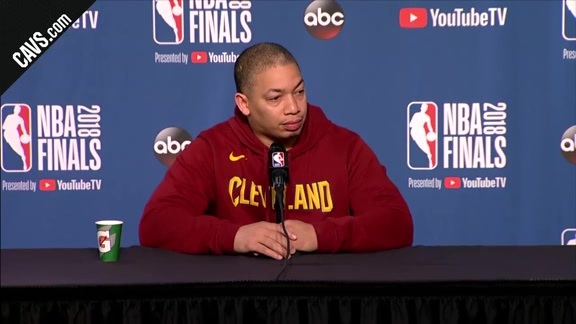 #CavsWarriors Game 4 Practice: Coach Lue – June 7, 2018