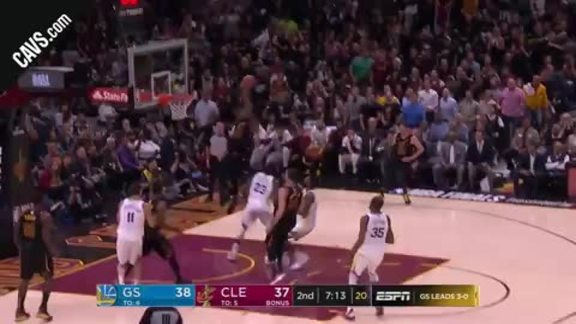 LBJ Throws the Hammer Down