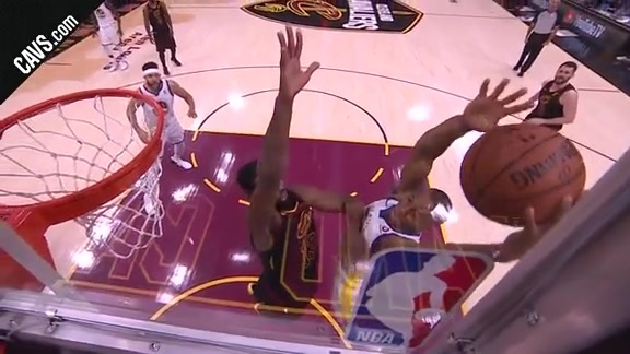 Tristan Thompson Stuffs the Warriors