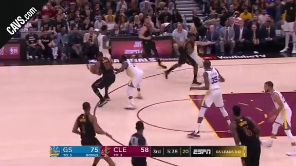 LBJ Threads the Needle to Jeff Green