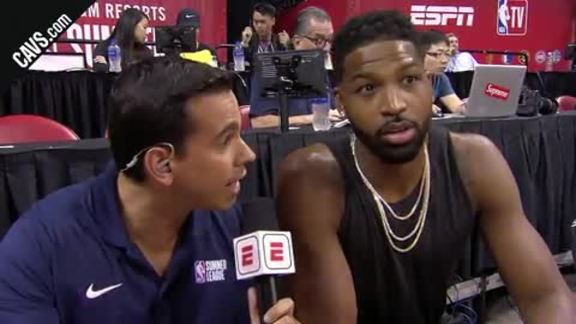 Tristan Thompson Courtside Interview