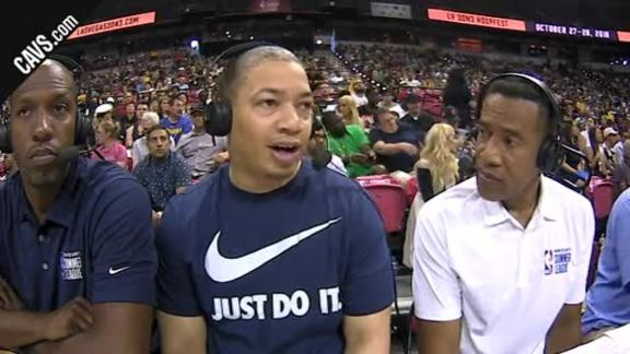 Coach Lue Courtside Interview