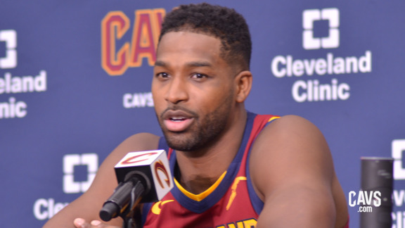 Tristan Thompson 2018 Media Day Availability