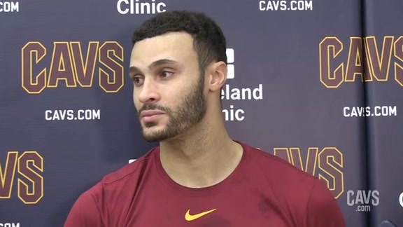 #CavsThunder Shootaround: Larry Nance Jr.